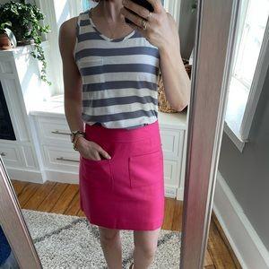 J.Crew mini skirt in double serge wool.